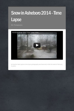 Snow in Asheboro 2014 - Time Lapse