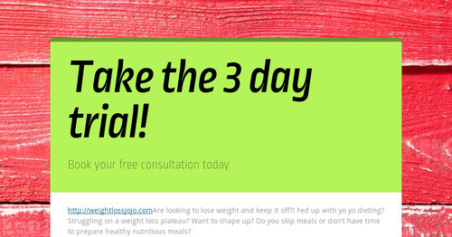 Take the 3 day trial! | Smore Newsletters