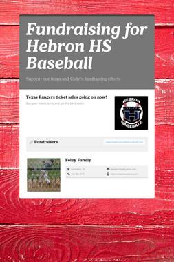 Fundraising for Hebron HS Baseball
