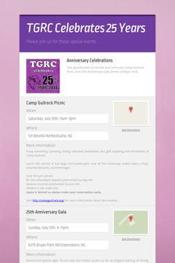 TGRC Celebrates 25 Years