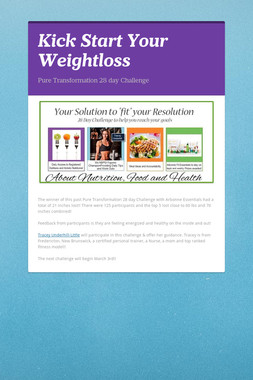 Kick Start Your Weightloss