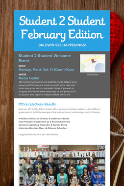 Student 2 Student February Edition