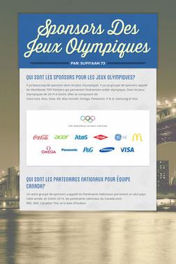 Sponsors Des Jeux Olympiques