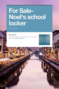 For Sale- Noel's school locker