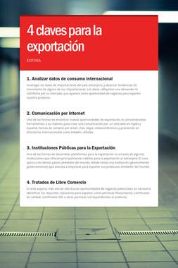 4 claves para la exportación