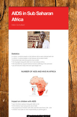 AIDS in Sub Saharan Africa