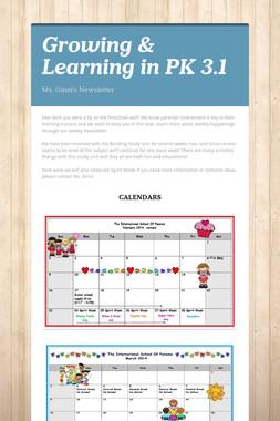 Growing & Learning in PK 3.1