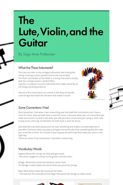 The Lute,Violin,and the Guitar