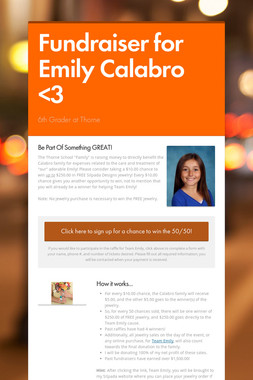 Fundraiser for Emily Calabro <3