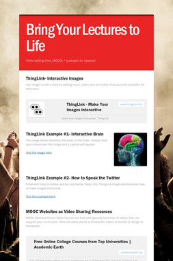 Bring Your Lectures to Life