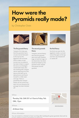 How were the Pyramids really made?