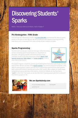 Discovering Students' Sparks
