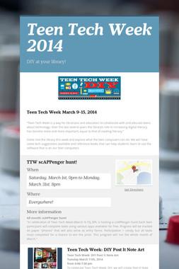 Teen Tech Week 2014