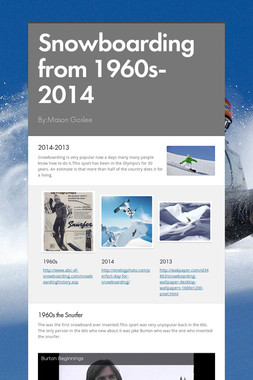 Snowboarding from 1960s-2014