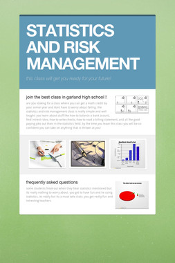 STATISTICS AND RISK MANAGEMENT
