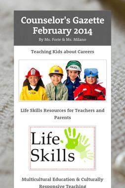 Counselor's Gazette  February 2014