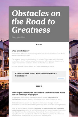 Obstacles on the Road to Greatness