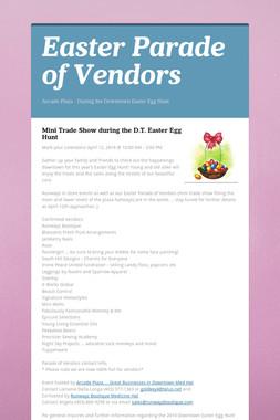 Easter Parade of Vendors