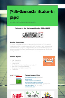 (Math+Science)Gamification=Engaged