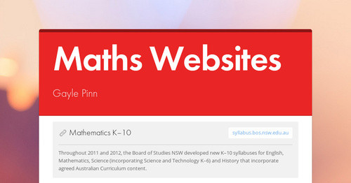 Maths Websites
