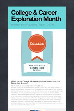 College & Career Exploration Month