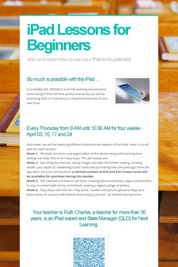 iPad Lessons for Beginners
