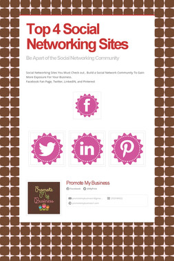 Top 4 Social Networking Sites