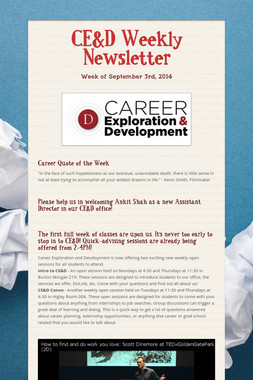 CE&D Weekly Newsletter
