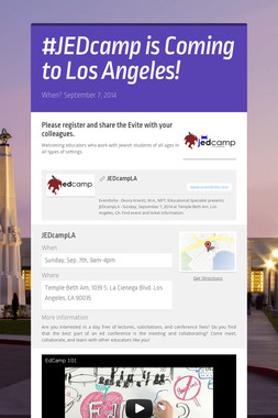 #JEDcamp is Coming to Los Angeles!