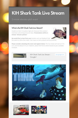 KIH Shark Tank Live Stream