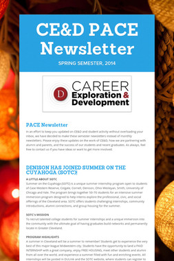 CE&D PACE Newsletter