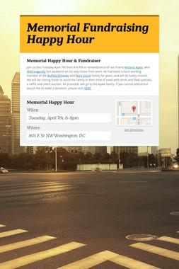 Memorial Fundraising Happy Hour