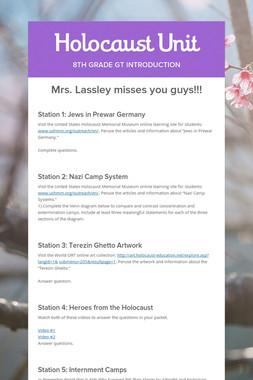 Holocaust Unit