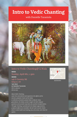 Intro to Vedic Chanting