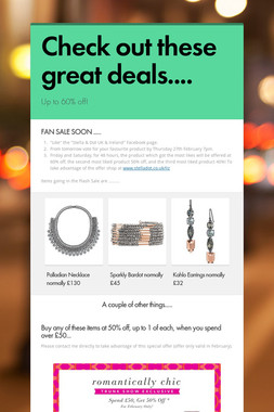 Check out these great deals....