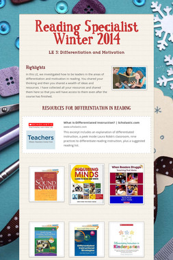Reading Specialist Winter 2014