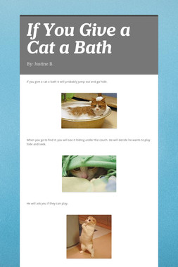 If You Give a Cat a Bath