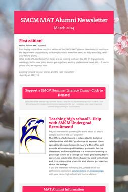 SMCM MAT Alumni Newsletter
