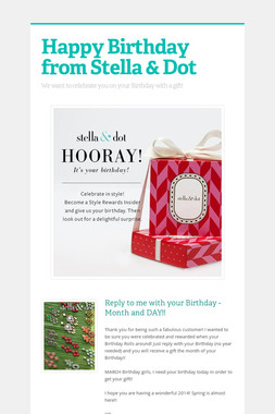 Happy Birthday from Stella & Dot