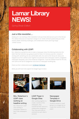 Lamar Library NEWS!