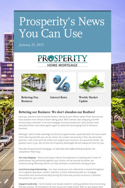 Prosperity's News You Can Use