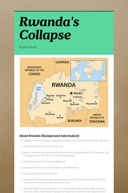 Rwanda's Collapse