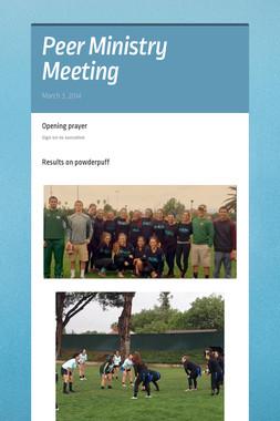 Peer Ministry Meeting