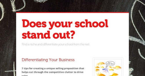 Does Your School Stand Out Smore Newsletters