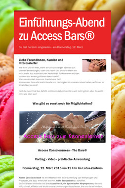 Einführungs-Abend zu Access Bars®