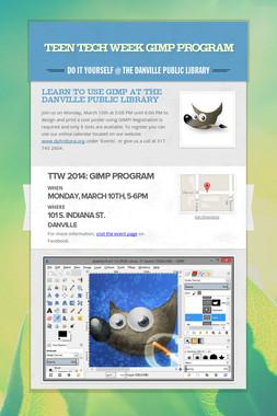 Teen Tech Week GIMP program