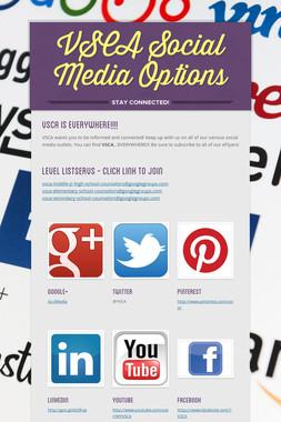 VSCA Social Media Options