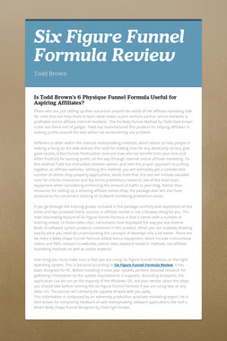 Six Figure Funnel Formula Review