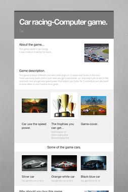 Car racing-Computer game.