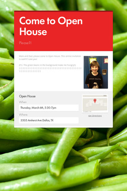 Come to Open House